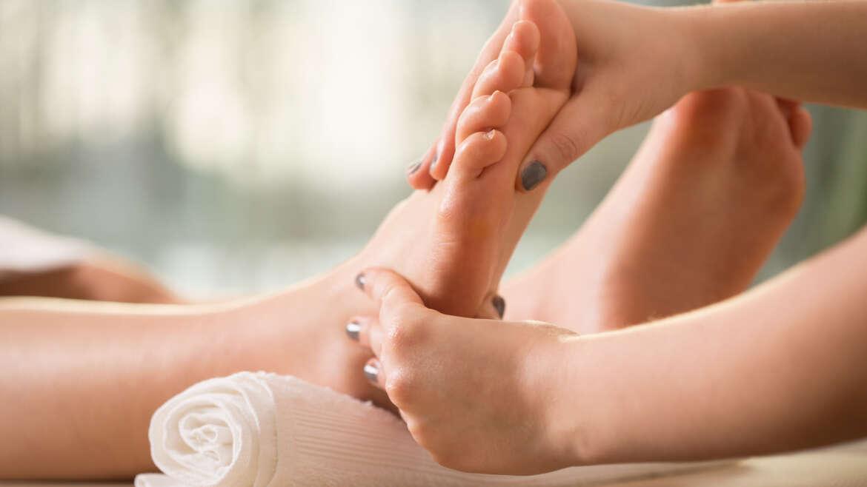 Reflexní masáž chodidel